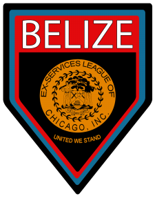 Official logo of the Belize Ex-Services League of Chicago.