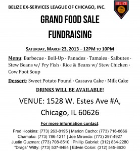 March 23rd, 2013: Grand Food Sale Fundraising