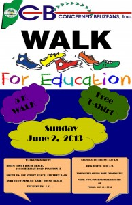 Concerned Belizeans Walk for Education