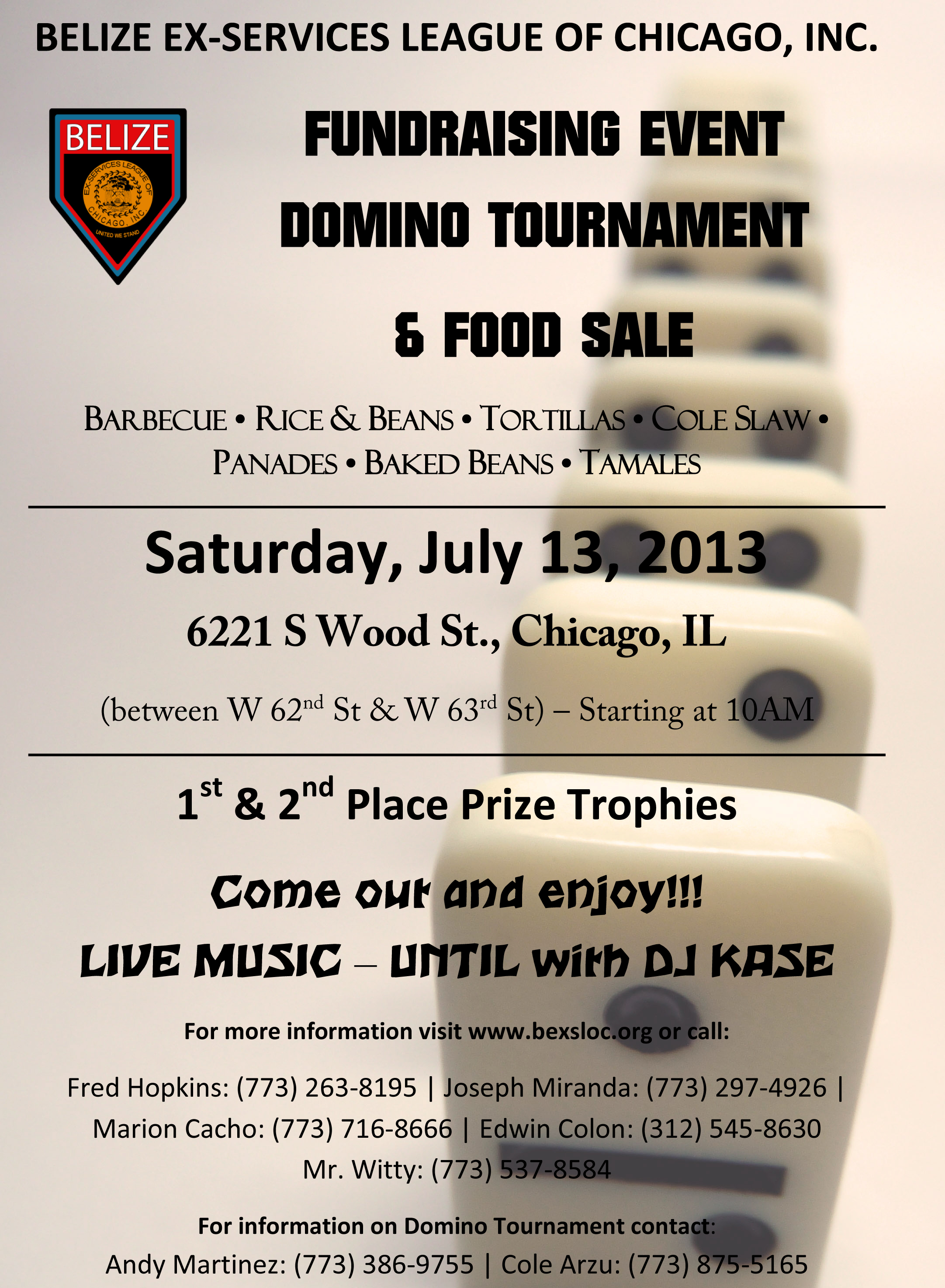 july 13  2013  domino tournament  u0026 food sale  u2013 belize ex